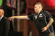 Michael Smith during the First Round of the BetVictor World Matchplay Darts at the Empress Ballroom, Blackpool, United Kingdom on 19 July 2015. Photo by Shane Healey.