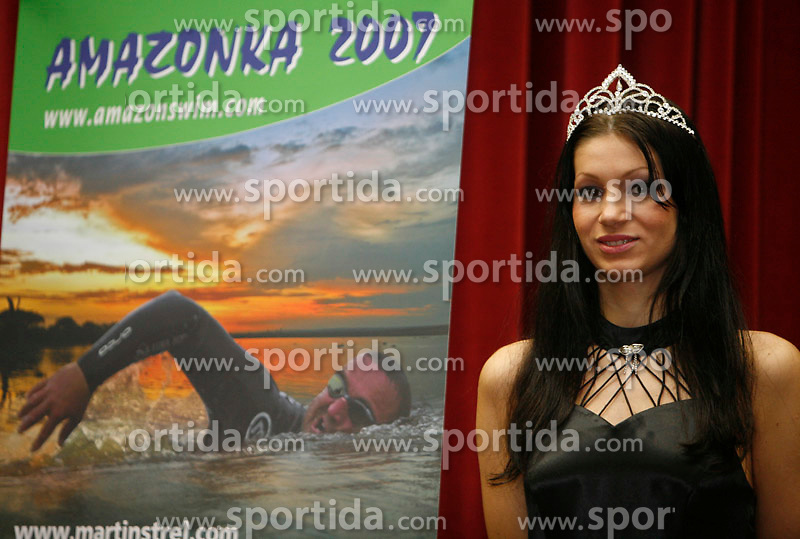 Press conference before departure to South America - Peru, where Martin Strel wants to set a world record by swimming 5268 Kms (3274 Miles) down the Amazon river, on January 23, 2007 in BTC, Ljubljana, Slovenia. (Photo by Vid Ponikvar / Sportida)
