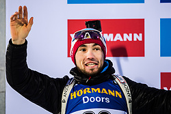 March 9, 2019 - –Stersund, Sweden - 190309 Alexander Loginov of Russia celebrates his second place at the podium after the Men's 10 KM sprint during the IBU World Championships Biathlon on March 9, 2019 in Östersund..Photo: Petter Arvidson / BILDBYRÃ…N / kod PA / 92252 (Credit Image: © Petter Arvidson/Bildbyran via ZUMA Press)