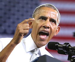 October 28, 2016 - Orlando, FL, USA - President Obama speaks at a campaign rally for Democratic presidential nominee Hillary Clinton at the University of Central Florida on Friday, Oct. 28, 2016, in Orlando, Fla. (Credit Image: © Joe Burbank/TNS via ZUMA Wire)