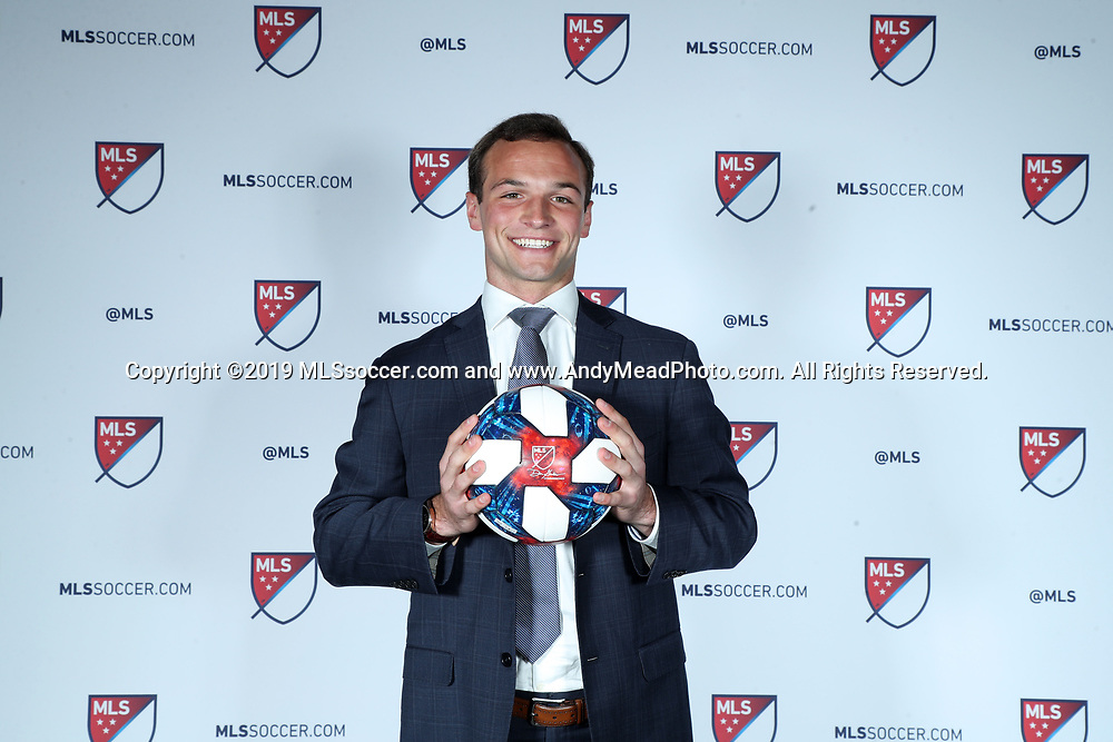 CHICAGO, IL - JANUARY 11: Chase Gasper was taken with the fifteenth overall pick by Minnesota United FC. The MLS SuperDraft 2019 presented by adidas was held on January 11, 2019 at McCormick Place in Chicago, IL.