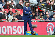 England Manager Gareth Southgate stood on the sideline during the FIFA World Cup Qualifier group stage match between England and Lithuania at Wembley Stadium, London, England on 26 March 2017. Photo by Matthew Redman.