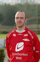 Thomas Lund - Brann<br /> Portretter, 10. mars 2004.<br /> Foto: Peter Tubaas/Digitalsport