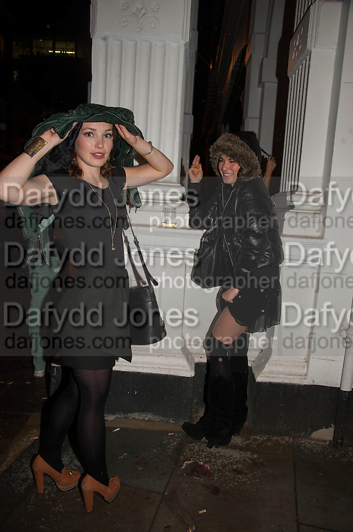 PERDITA WEEKS; MARISSA CALDERON, The Gentleman's Journal Autumn Party, in partnership with Gieves and Hawkes- No. 1 Savile Row London. 3 October 2013