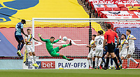 Wycombe Wanderers' Anthony Stewart (left) scoring his side's first goal <br /> <br /> Photographer Andrew Kearns/CameraSport<br /> <br /> Sky Bet League One Play Off Final - Oxford United v Wycombe Wanderers - Monday July 13th 2020 - Wembley Stadium - London<br /> <br /> World Copyright © 2020 CameraSport. All rights reserved. 43 Linden Ave. Countesthorpe. Leicester. England. LE8 5PG - Tel: +44 (0) 116 277 4147 - admin@camerasport.com - www.camerasport.com