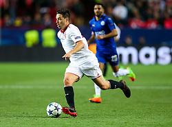 Samir Nasri of Sevilla in action - Rogan Thomson/JMP - 22/02/2017 - FOOTBALL - Estadio Ramon Sanchez Pizjuan - Seville, Spain - Sevilla FC v Leicester City - UEFA Champions League Round of 16, 1st Leg.
