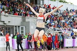 12.07.2015, Kadriorg Stadion, Tallinn, EST, U23 Leichtathletik EM, Tallinn, im Bild Annika Gaertz (GER) // Annika Gaertz (GER) competing during the Long Jump U23 Championships at the Kadriorg Stadion in Tallinn, Estland on 2015/07/12. EXPA Pictures © 2015, PhotoCredit: EXPA/ Eibner-Pressefoto/ Fusswinkel<br /> <br /> *****ATTENTION - OUT of GER*****
