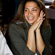 NLD/Amsterdam/20100328 - Veiling voor Engelen van Oranje, Fanny Koopmans, partner van Boy Waterman