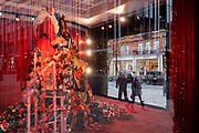 In advance of a re-opening of businesses and before a change to a Tier 2 for London during the second wave of the Coronavirus pandemic, the Selfridges department store displays Christmas decorations and a Santa on Oxford Street, on 30th November 2020, in London, England. Retailers will once again be open for Christmas business on 3rd December.