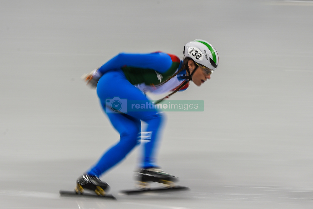 February 17, 2018 - Pyeongchang, Gangwon, South Korea - Martina Valcepina of Italy competing in 1500 meter speed skating for women at Gangneung Ice Arena, Gangneung, South Korea on 17 February 2018. (Credit Image: © Ulrik Pedersen/NurPhoto via ZUMA Press)