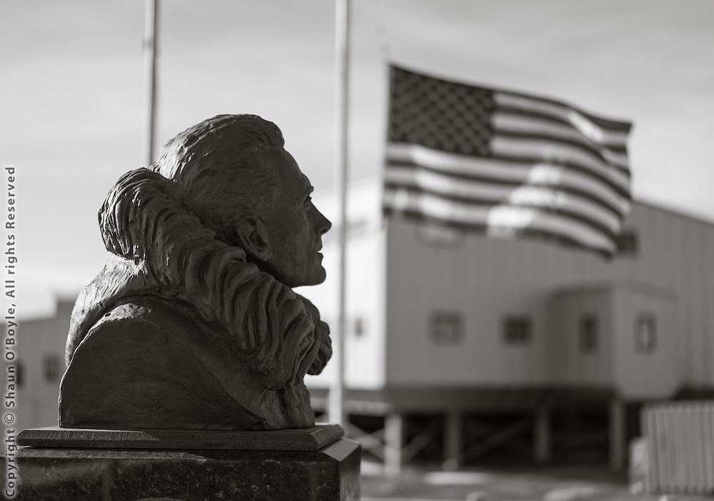 Admiral Byrd bust.