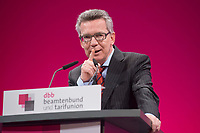 12 JAN 2015, KOELN/GERMANY:<br /> Thomas de Maiziere, CDU, Bundesinnenminister, haelt eine Rede, dbb Jahrestagung 2015, Messe Koeln<br /> IMAGE: 20150112-01-131<br /> KEYWORDS: Köln, Thomas de Maizière