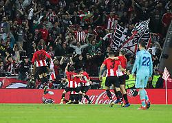 March 16, 2019 - Bilbao, Vizcaya, Spain - Players of Athletic de Bilbao celebrating a goal during La Liga Spanish championship, , football match between Athletic de Bilbao and Atletico de Madrid, March 16th, in Nuevo San Mames Stadium in Bilbao, Spain. (Credit Image: © AFP7 via ZUMA Wire)