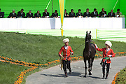 Judges preside over the prestigious 'Most Beautiful Horse in Turkmenistan' 2010 competition at the City Hippodrome in Ashgabat, on the occasion of National Turkmen Horse Day.