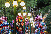 Colorful balloons for sale in the central City Square called the Zocalo de Puebla in Puebla, Mexico.