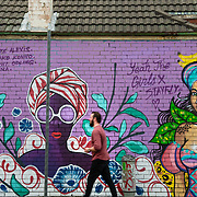 Colourful street art in the Newtown suburb of Sydney