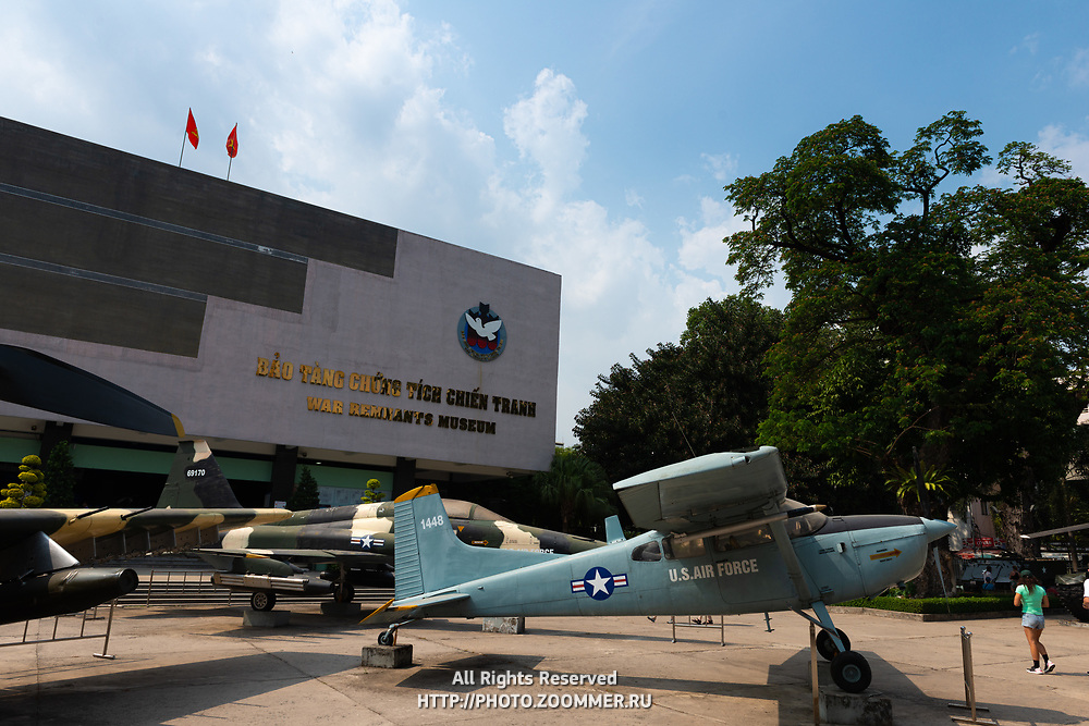 US planes in Saigon war remnants museum, Vietnam