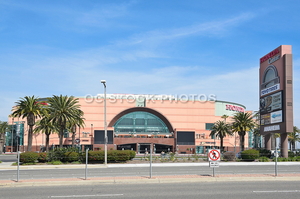 The Honda Center at Katella Ave in Anaheim