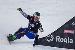 Nadya Ochner (ITA) during Final Run at Parallel Giant Slalom at FIS Snowboard World Cup Rogla 2019, on January 19, 2019 at Course Jasa, Rogla, Slovenia. Photo byJurij Vodusek / Sportida
