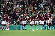 Tammy Abraham of Aston Villa (18) celebrates scoring a goal during the EFL Sky Bet Championship match between Aston Villa and Rotherham United at Villa Park, Birmingham, England on 18 September 2018.