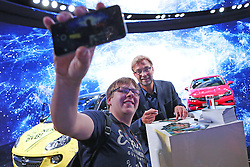 19.09.2015, Messe Frankfurt, Frankfurt am Main, GER, IAA 2015, im Bild Opel Markenbotschafter und Ex-Trainer von Borussia Dortmund Jürgen Klopp // former Dortmund Coach Juergen Klopp during the The International Motor Show IAA at the Messe Frankfurt in Frankfurt am Main, Germany on 2015/09/19. EXPA Pictures © 2015, PhotoCredit: EXPA/ Eibner-Pressefoto/ Roskaritz<br /> <br /> *****ATTENTION - OUT of GER*****