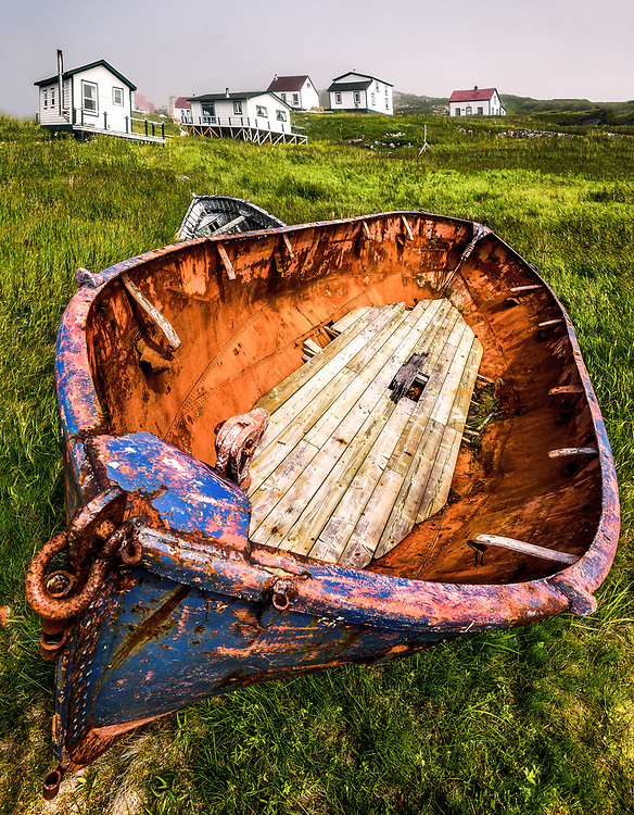 Battle Harbour, a fishing station, formerly a permanent settlement on the Labrador coast.