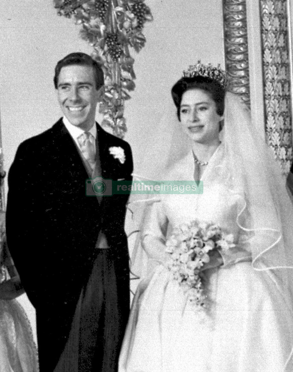 Princess Margaret and Antony Armstrong-Jones at Buckingham Palace after their marriage ceremony at Westminster Abbey in London.