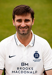Middlesex's Tim Murtagh  during the media day at Lord's Cricket Ground, London. PRESS ASSOCIATION Photo. Picture date: Wednesday April 11, 2018. See PA story CRICKET Middlesex. Photo credit should read: John Walton/PA Wire. RESTRICTIONS: Editorial use only. No commercial use without prior written consent of the ECB. Still image use only. No moving images to emulate broadcast. No removing or obscuring of sponsor logos.