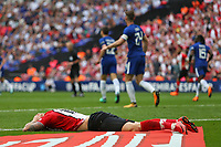 Football - 2017 / 2018 FA Cup - Semi Final: Chelsea vs. Southampton<br /> <br /> Southampton's Charlie Austin lays out on the pitch after his effort on goal hits the post and rebounds clear at Wembley Stadium <br /> <br /> COLORSPORT/SHAUN BOGGUST