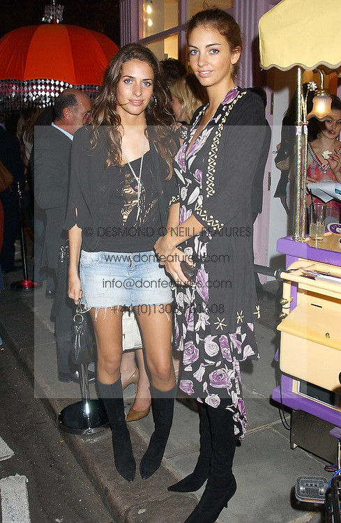 Left to right, sisters MARINA HANBURY and ROSE HANBURY at a party to celebrate the opening of the new Lotus store at 11 Pont Street, London SW1 on 13th September 2005.<br /><br />NON EXCLUSIVE - WORLD RIGHTS