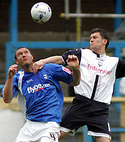 Photo: Paul Thomas.<br /> Preston North End v Birmingham City. Coca Cola Championship. 06/05/2007.<br /> <br /> David Nugent (R) of Preston battles with Martin Taylor.