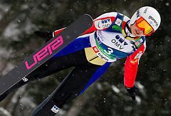 Anja Tepes of Slovenia during Normal Hill Individual Competition at FIS World Cup Ski jumping Ladies Ljubno 2012, on February 12, 2012 in Ljubno ob Savinji, Slovenia. (Photo By Vid Ponikvar / Sportida.com)