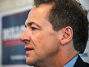 17 MAY 2019 - NEWTON, IOWA:  Governor STEVE BULLOCK (D-MT) talks to Iowa voters after a campaign event in Newton. Gov. Bullock joined a crowded field of Democrats vying to be the party's Presidential nominee in 2020. Iowa traditionally hosts the the first election event of the presidential election cycle. The Iowa Caucuses will be on Feb. 3, 2020.                       PHOTO BY JACK KURTZ