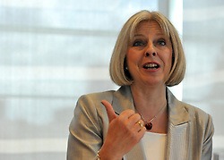 © London News Pictures. 12/11/12. FILE PICTURE. Home Secretary Theresa May. Terror suspect Abu Qatada today won his appeal against deportation to Jordan to face trial, in a huge setback for the Government which has now been trying to get him out of the UK for a decade. Photo credit should read Stephen SImpson/LNP