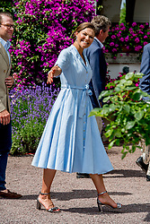 Crown Princess Victoria greeting people during the traditionally celebration of her 40th birthday at the royal family's summer residence, Solliden Palace in Borgholm, Öland, Sweden, on July 15, 2017, a day later Stockholm celebration. Photo by Robin Utrecht/ABACAPRESS.COM