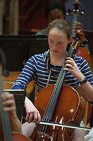 St Paul's School Symphony orchestra rehearsal.  Karen Bobotas Photographer