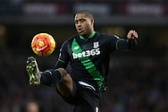Glen Johnson of Stoke City in action. Barclays Premier league match, West Ham Utd v Stoke city at the Boleyn Ground, Upton Park  in London on Saturday 12th December 2015.<br /> pic by John Patrick Fletcher, Andrew Orchard sports photography.
