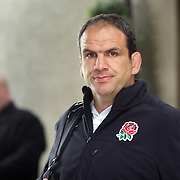 England Coach Martin Johnson leaving the team hotel in Queenstown as the England team depart for their match against Georgia in Dunedin during the IRB Rugby World Cup tournament.  Queenstown, New Zealand, 16th September 2011. Photo Tim Clayton...