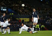 Photo: Andrew Unwin.<br />Scotland v USA. International Challenge. 12/11/2005.<br />Scotland's Andy Webster (#5) equalises for his team.