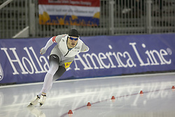 March 9, 2019 - Salt Lake City, Utah, USA - Patrick Beckert of Germany competes in the 5000m speed skating finals at the ISU World Cup at the Olympic Oval in Salt Lake City, Utah. Pederson completed the race with a time of 6.13.33 putting him in 6th place. (Credit Image: © Natalie Behring/ZUMA Wire)