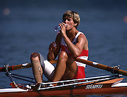 .1992 Barcelona Olympics.CAN W1X.Silken Laumann, bandage visable from the accident she suffered 6-8 weeks proir to the summer games...       {Mandatory Credit: © Peter Spurrier/Intersport Images]..........       {Mandatory Credit: © Peter Spurrier/Intersport Images]..........       {Mandatory Credit: © Peter Spurrier/Intersport Images].........