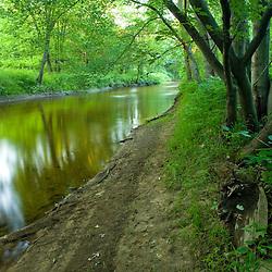 The Fort River in Hadley, Massachusetts.  Conte National Wildlife Refuge.