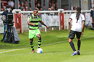 Forest Green Rovers Dale Bennett (6) in possession  during the Vanarama National League match between Dover Athletic and Forest Green Rovers at Crabble Athletic Ground, Dover, United Kingdom on 10 September 2016. Photo by Shane Healey.