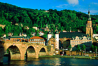 Bridge over the Neckar River (Schloss in background), Heidelberg, Germany