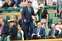 July 6, 2018 - London, London, UK - London, UK. David Cameron and mother Mary Cameron arrive on the centre court tennis in the royal box on the fifth day of the Wimbledon Tennis Championships 2018 held at the All England Lawn Tennis and Croquet Club. (Credit Image: © Ray Tang/London News Pictures via ZUMA Wire)