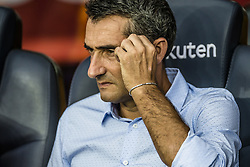 August 7, 2017 - Barcelona, Catalonia, Spain - FC Barcelona head coach ERNESTO VALVERDE prior to the 52nd Joan Gamper Trophy at the Camp Nou stadium in Barcelona, his home debut (Credit Image: © Matthias Oesterle via ZUMA Wire)