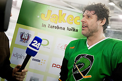 during Humanitarian hockey derby of legends between Olimpija and Jesenice, on 7 March 2014, in Hala Tivoli, Ljubljana, Slovenia. Photo by Urban Urbanc / Sportida.com
