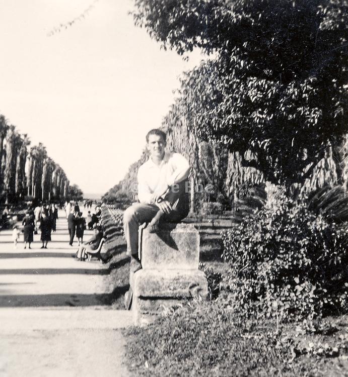 souvenir picture during a trip to Paris ca 1960s