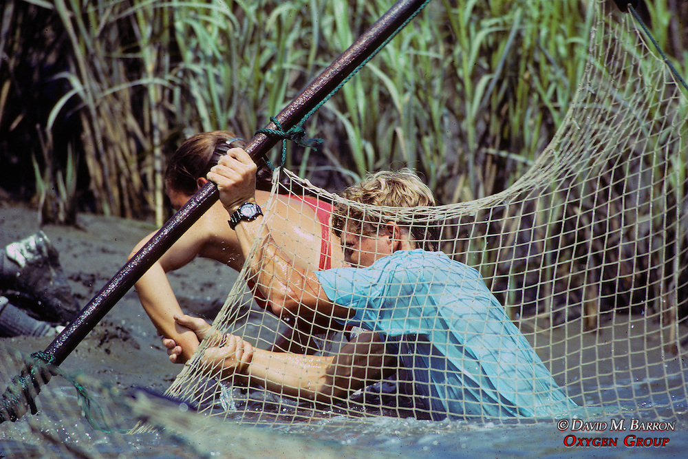 Tim & Heather Mike Setting Nets For Diamondback Terrapins