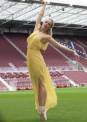 Ballet dancer Eve Mutso at launch of Edinburgh International Festival programme, Tynecastle stadium. Pic Terry Murden @edinburghelitemedia